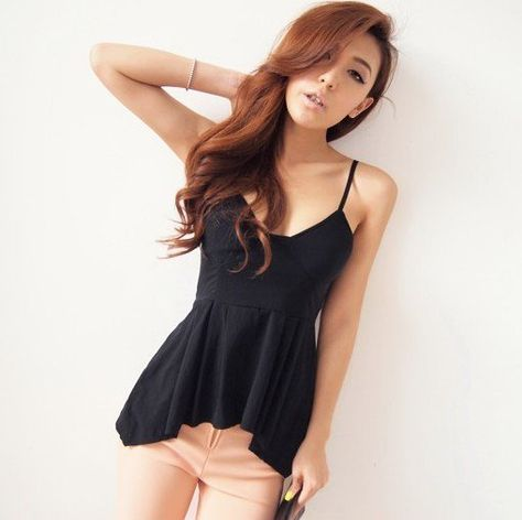 Women Basic Modal Camisole Tank Top for Teen Girl Supersoft Elastic Spaghetti Strap Cami with Chest Pad Vest Blouse
