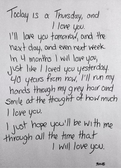 I love you! I wish you knew how much!