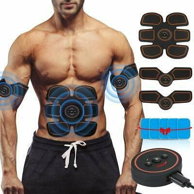 Electric Muscle Toner ABS Toning Belt Simulation Fat Burner Abdominal Training