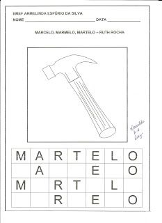 Marcelo Marmelo Martelo Ruth Rocha Com Imagens Martelo