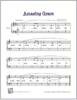 Amazing Grace In 2019 Beginner Piano Sheet Music Piano Sheet