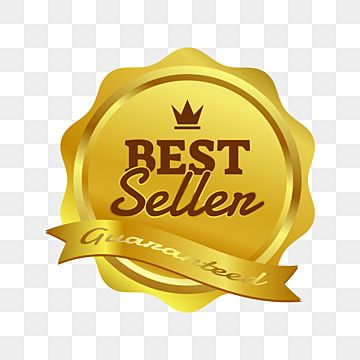 Best Seller Guaranteed Golden Badge With Crown Ornament And Ribbon Badge Clipart Golden Badge Png And Vector With Transparent Background For Free Download Badge Prints For Sale Badge Design