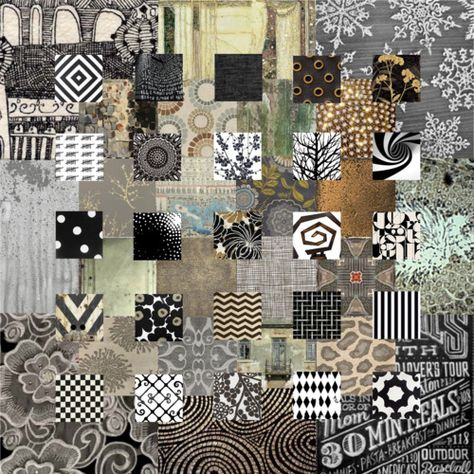 collage #quilt #collage #grey #black