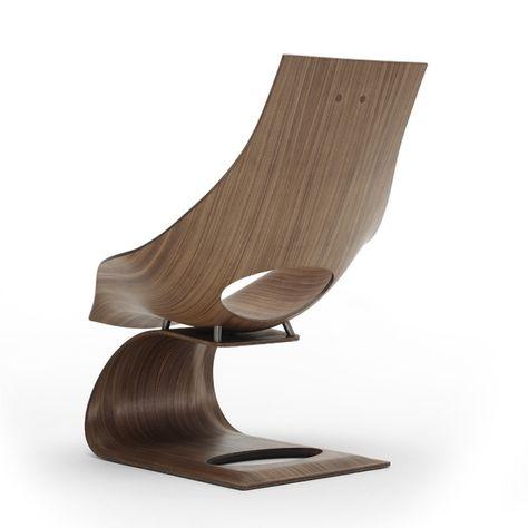 haus & garten » skulptureller design relaxsessel aus holz von carl, Design ideen
