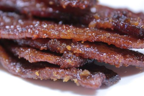 Smoked bacon candy doesn't need a lot of introduction and there's not a better marriage of foods than what happens when you combine sweet syrup and bacon.