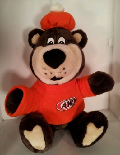 Collectible A & W Rootie The Great Root Beer Bear Stuffed Plush Toy Animal