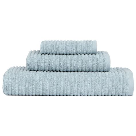 Monterey 1 Piece Ribbed Turkish Face Towel In Spa Blue 9855200340