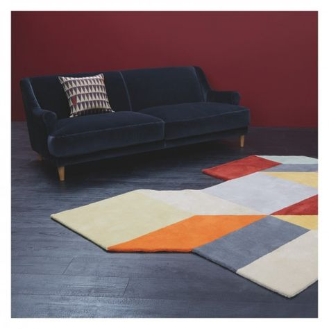 Cubo Large Multi Coloured Cubes Wool Rug 170 X 240cm Buy Now At Habitat Uk Living Room Furniture Rugs Living Room Furniture Living Room