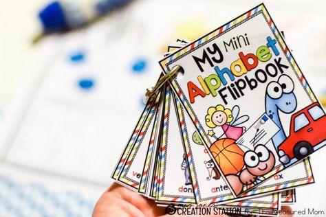 Mini alphabet flipbook