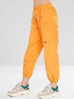 Ropa En Pinterest Pantalones Jogger Bordados Con Letras Ropa Pantalones Cargo Mujer Pantalon Bombacho Mujer
