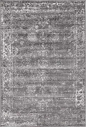 Unique Loom Sofia Collection Dark Gray 4 X 6 Area Rug 4 X 6 Click For Special Deals Area Rugs Unique Loom Rugs
