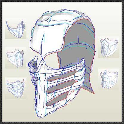 Mortal Kombat 9 Mask Paper Models Free Templates Download Paper