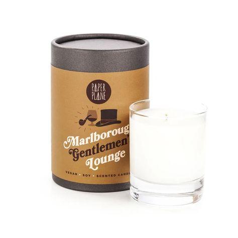 Marlborough Gentlemen's Lounge Vegan Soy Candle - Paper Plane  #giftsforhim #giftsforguys #giftsformen #valentinesday #valentinesgift #birthdaygifts #birthdaypresents #shopsmall #smallgifts #christmaspresent #christmasgift #stockingfiller #funnygift #skincare #selfcare #mensbeauty #mensskincare #hipster #hipstergifts #candle #relaxation #vegan #vegangifts #gentleman #gentlemen #sophisticated