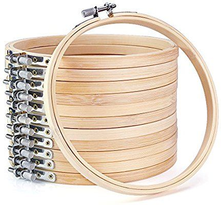 Amazon Com Caydo 12 Pieces 6 Inch Wooden Embroidery Hoops Bulk