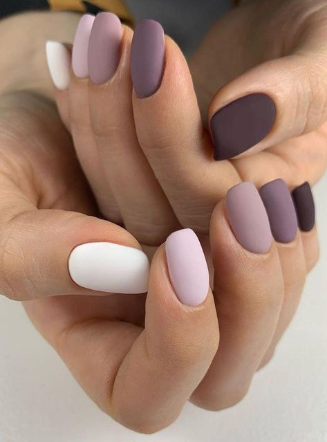 55 Pretty Matte Nails for Spring You Will Love - Girls still have their own different pursuit of makeup. Some girls prefer dry and non greasy matte m - Summer Acrylic Nails, Best Acrylic Nails, Spring Nails, Summer Nails, Pretty Nails For Summer, Purple Nails, Matte Nails, Gel Nails, Pointy Nails