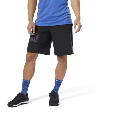 Reebok Epic Knit Waistband Mens Training Shorts Blue Crossfit Gym Workout Short