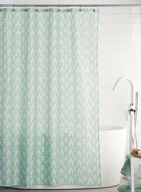 Decorative Foliage Shower Curtain