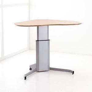 Ein Kleiner Steh Sitz Tisch Auch Fur Das Home Office Geeignet Adjustable Height Desk Electric Height Adjustable Table Adjustable Height Table