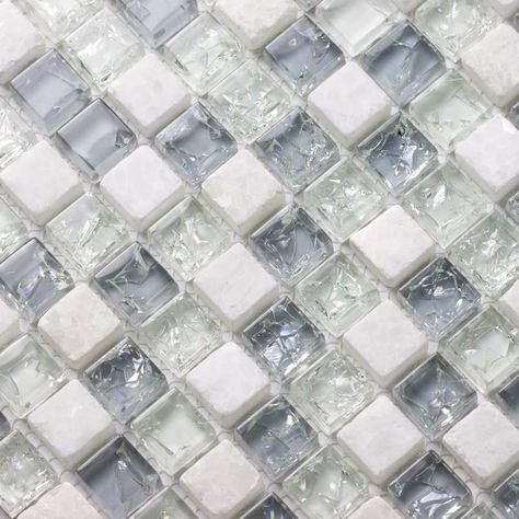 Mosaique Verre Et Cristal Pastel 30 5x30 5 Cm City Mix Pastel