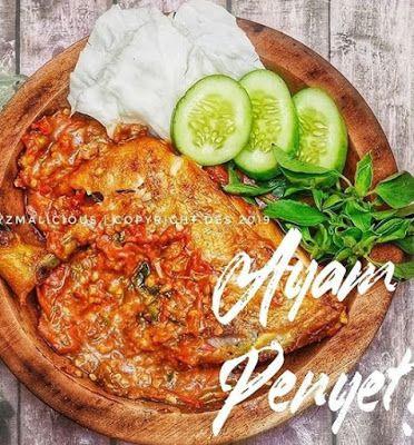 Ayam Penyet Resep Ayam Resep Masakan Masakan