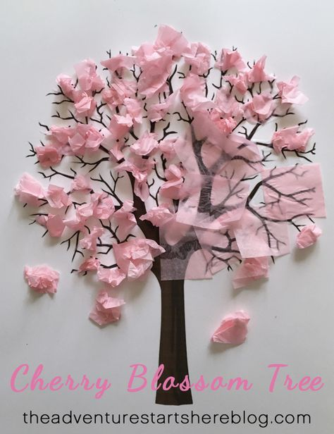 Cherry blossom trees and this Bubble Wrap Print is such a cute craft idea! Trying it with my preschoolers ♥I love Cherry blossom trees and this Bubble Wrap Print is such a cute craft idea! Flower Crafts Kids, Pink Crafts, Summer Crafts For Kids, Tree Crafts, Fall Crafts, Art For Kids, Arts And Crafts, Paper Crafts, Spring Crafts For Preschoolers