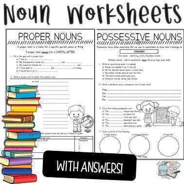 Noun Worksheets Nouns Worksheet Nouns Possessive Nouns Possessive plural nouns worksheets