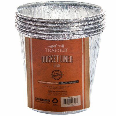 Traeger Wood Fired Grills Bucket Liner 5 Pack Grilling Traeger Pellets Grilling Recipes