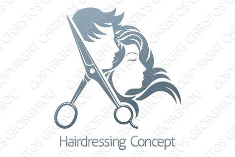 Hairdresser Hair Salon Scissors Man… by Christos Georghiou on @creativemarket