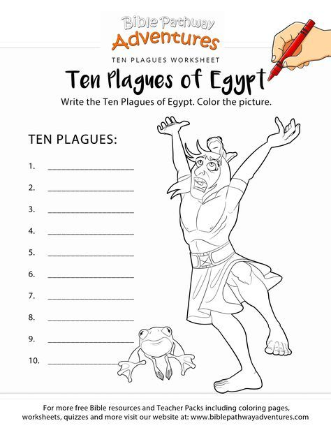 Ten Plagues Of Egypt Worksheet Coloring Page Bible Lessons For