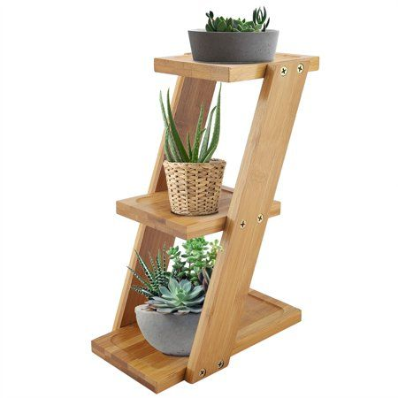 Walfront Plant Stand Shelf Small Flower Pots Holder Display Rack