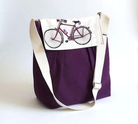 Handmade cotton canvas bag. Found on Etsy.