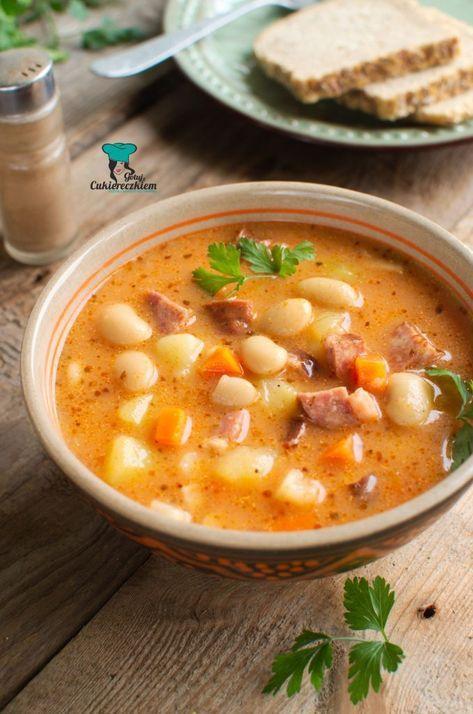 Szybka Zupa Fasolowa Cooking Recipes Soup Recipes Culinary Recipes