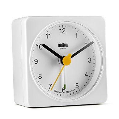 Amazon Com Braun Bnc002whwh Classic Analog Quartz Alarm Clock Braun Watches Travel Alarm Clock Analog Alarm Clock Alarm Clock