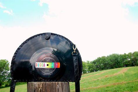 DIY Purse From Vinyl Records