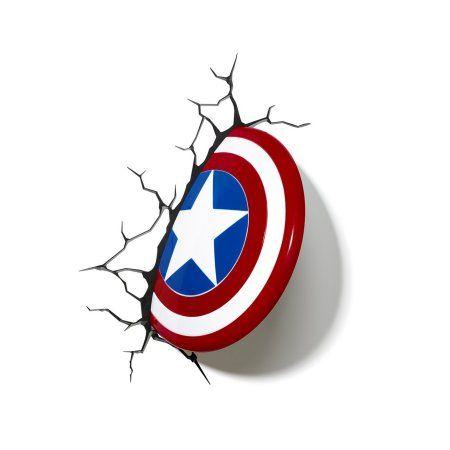 3dlightfx Marvel Avengers Captain America 3d Deco Light Walmart Com Marvel Lights Captain America Shield 3d Night Light