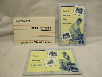 Advertisement Ebay 2001 Toyota Solara Factory Owners Manual Book Booklet Oem Lkq Toyota Solara Owners Manuals Toyota