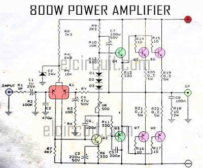 800w Power Amplifier Circuit Power Amplifiers Circuit Diagram Mini Amplifier