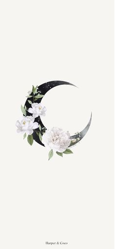 Moon wall art  Celestial poster  Bohemian poster  Beige black wall art  Moon floral   Flowers Art  Instant download   Living room art  Doorm