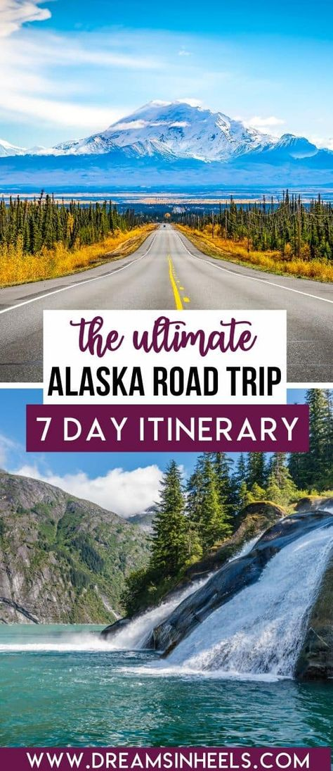 Alaska is a state in the US full of history, wildlife, nature, picturesque views, architecture and great food. What's not to love about this combo? If you only had one week in Alaska, here is an Alaska itinerary for 7 days with the best things to do in Alaska. | Alaska Travel | Alaska Photography | Alaska Aesthetic | Alaska Travel Phototography | Alaska Travel Tips | Road Trip USA | Alaska travel summer | Alaska Travel Anchorage | USA travel destinations | USA Travel Bucket List | USA Road Trip