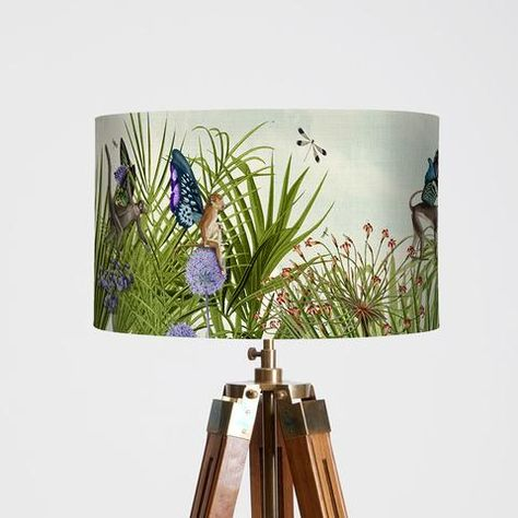 Tropical Monkey Lampshade Home