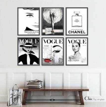 40 Ideas Fashion Poster Ideas Style Black And White Trendy Wall Art Black And White Hallway Fashion Wall Art