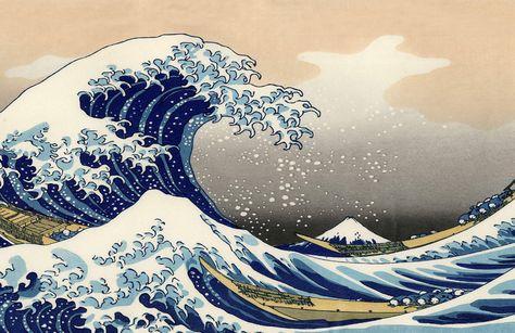 The Great Wave off Kanagawa by Hokusai Wallpaper Mural