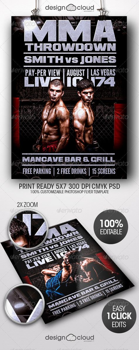 Realistic Graphic DOWNLOAD (ai, psd)  http\/\/hardcastde - ufc flyer template
