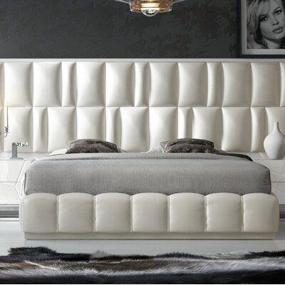 Orren Ellis Helotes Upholstered Platform Bed Upholstered