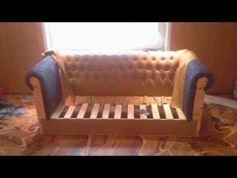 Izgotovlenie Divana Doma Youtube Diy Furniture Couch Oversized Chair Living Room Diy Sofa