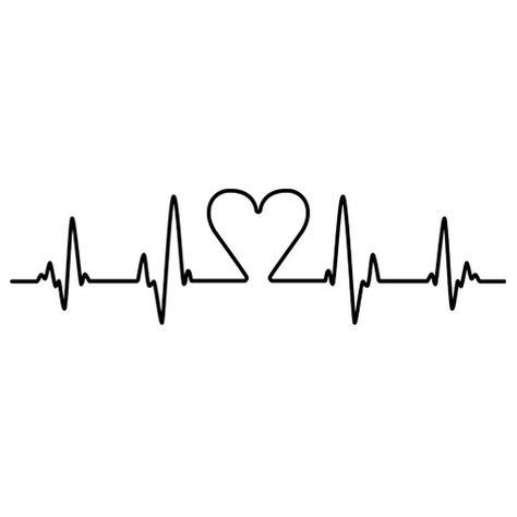 Vinilo decorativo electrocardiograma corazón