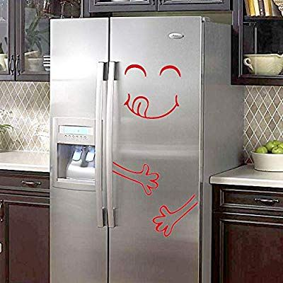 Merry Christmas Snowman Fridge Stickers Kitchen Wall Waterproof Posters Decals
