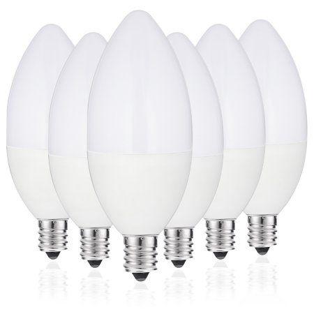 Jcase Led Light Bulbs Candelabra Base 6w 60w Incandescent Equivalent Daylight White 5000k Candelabra Led Bulbs Kitchen Decor Led Light Bulbs Home Lighting