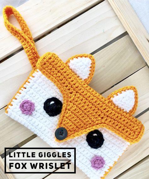 Little Giggles Fox Wristlet