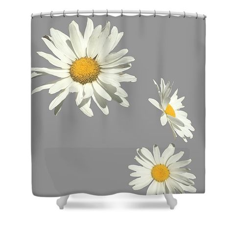 White Daisy Shower Curtain For Sale By Tammy Mccormick Curtains